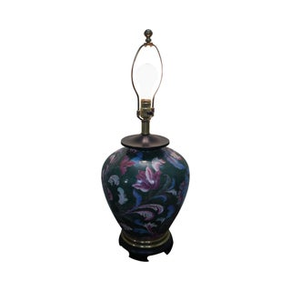 Frederick Cooper Floral Pottery Ginger Jar Urn Table Lamp