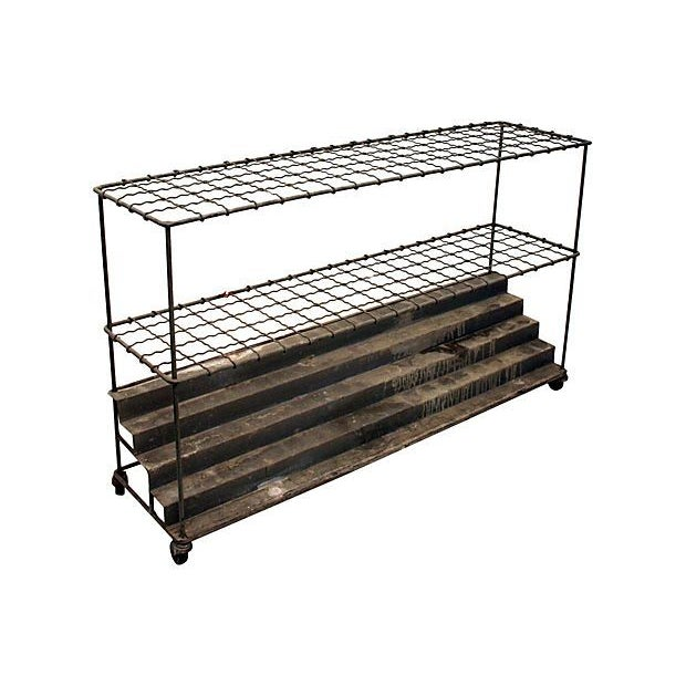 Industrial architectural plan storage cart chairish for Architectural plan storage