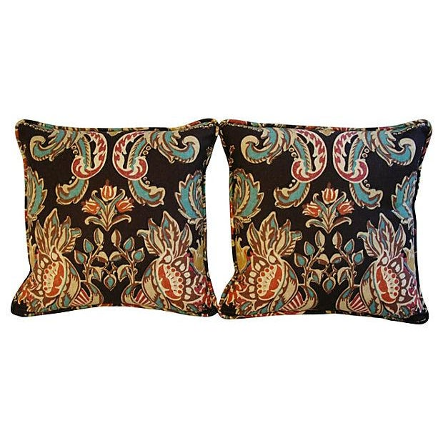 Designer Kravet Lutron Espresso Pillows - A Pair - Image 5 of 6