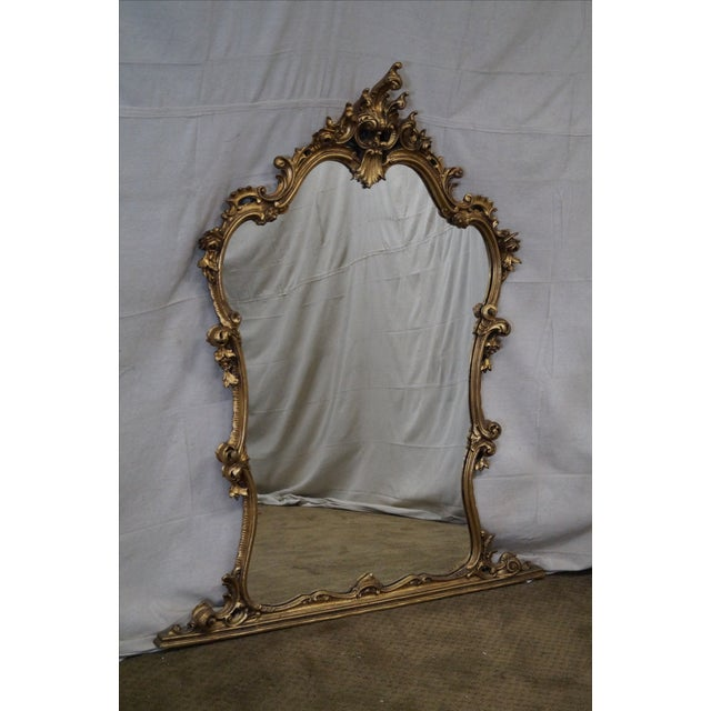 French Louis XV Carved Gilt Console Wall Mirror - Image 2 of 10