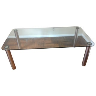 Marco Zanuso Stainless Steel & Glass Dining Table