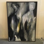 Image of 1960's Abstract Figural Oil Painting