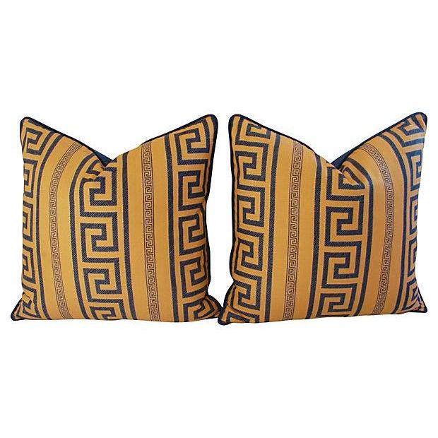 Designer Pierre Frey Greek Key Pillows - A Pair - Image 7 of 8
