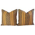 Image of Designer Pierre Frey Greek Key Pillows - A Pair
