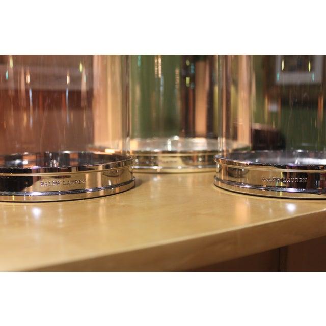 Ralph Lauren Silver Hurricane Lanterns - Set of 3 - Image 3 of 10