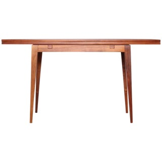 Walnut Flip Top Console by Edward Wormley for Dunbar