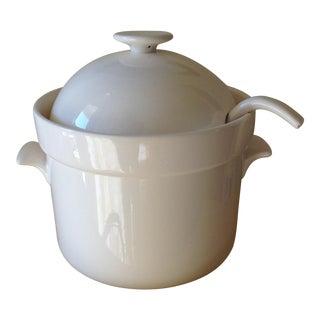 Vintage Japanese Pottery Serving Pot & Ladle