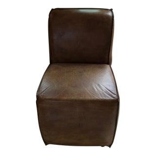 Restoration Hardware Ellison Leather Side Chair