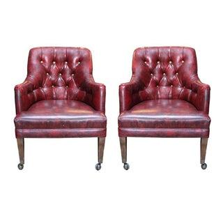 Burgundy Tufted Side Chair - Single Chair