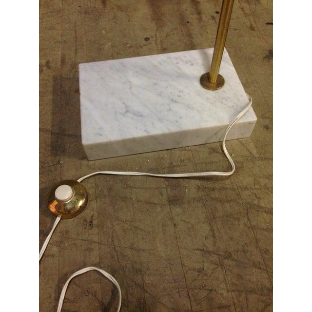 Mid-Century Modern Marble & Brass Arc Lamp - Image 5 of 6