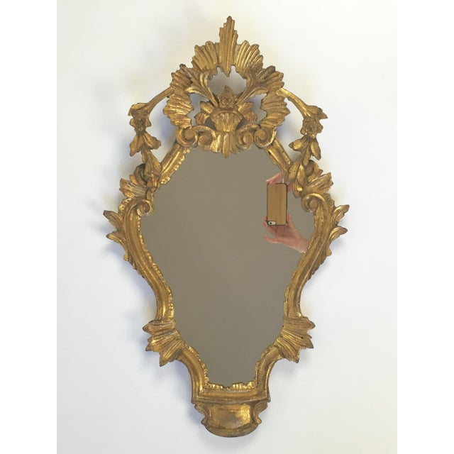 Antique Italian Hand-Carved Gilt Wood Mirror - Image 2 of 10
