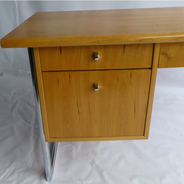 Image of Jack Cartwright Mid-Century Birch Founders Desk