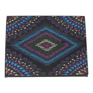 20th Century P.A. Mennonite Geometric Mounted Rug