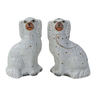 Antique Staffordshire Dogs - Pair