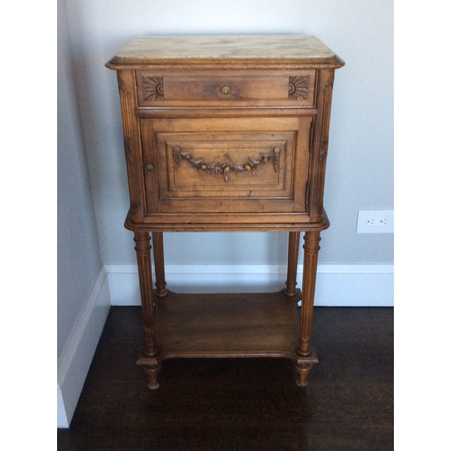 Antique Louis XV Style Nightstand - Image 5 of 5