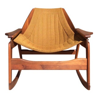 Mid-Century Sculptural Rocking Chair by Jerry Johnson