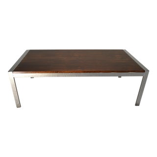 Howard Miller Rosewood & Chrome Coffee Table