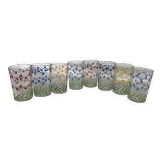 Mid-Century Modern Juice Glasses - Set of 8