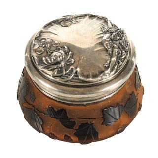 Galle Cameo Glass Lidded Jar