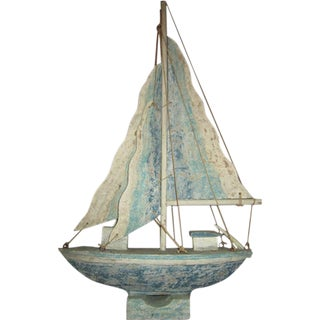Indonesian Wooden Boat Statue
