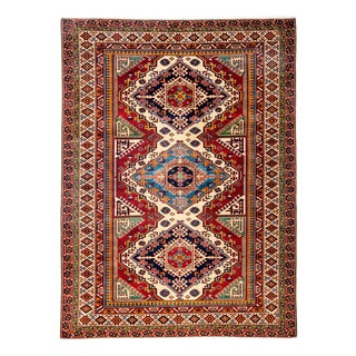 """New Traditional Hand Knotted Area Rug - 5' x 6'9"""""""