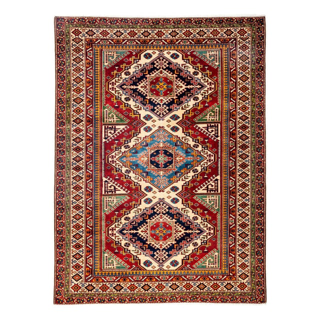 """Image of New Traditional Hand Knotted Area Rug - 5' x 6'9"""""""