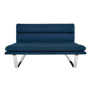 Mid-Century Modern-Style Chrome Floating Sofa