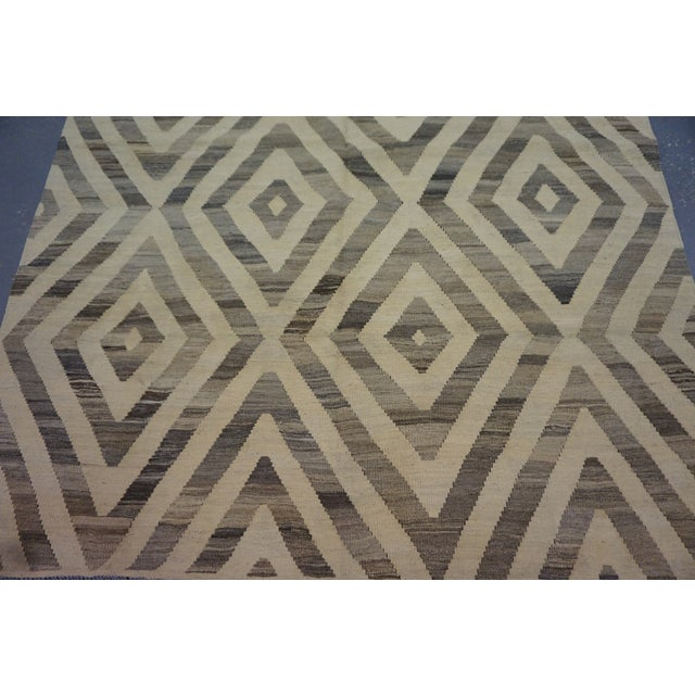 "Image of Afghan Kilim Morrocan Rug, 6"" x 8"""