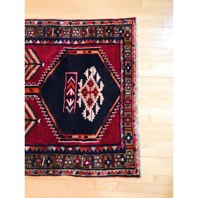 Antique Persian Wool Rug - 3′1″ × 12′2″ - Image 5 of 5