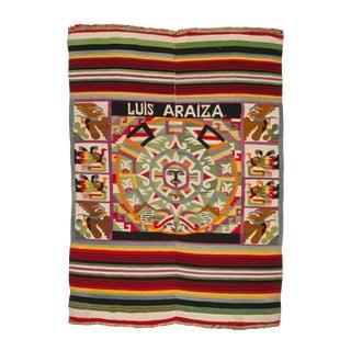 Vintage Mexican Pictorial Textile, 1940s