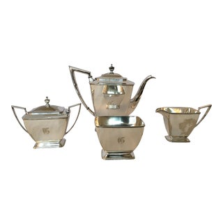Vintage Silver Plate Pairpoint Co. Sheffield Tea Service Set - Set of 4