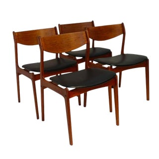 Mid-Century Modern Danish Dining Chairs - Set of 4