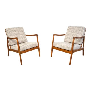 Ole Wanscher Danish Modern Lounge Chairs