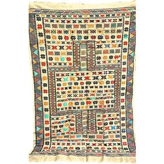 "Moroccan Oued Zem Carpet Cotton Area Rug 91"" x 58"""