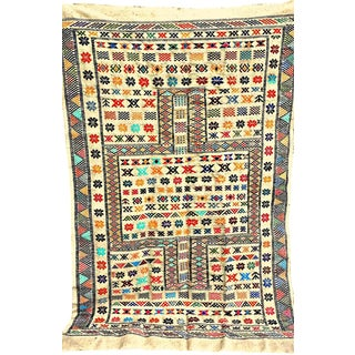 "Moroccan Oued Zem Carpet Cotton Area Rug 91"" x 58"""