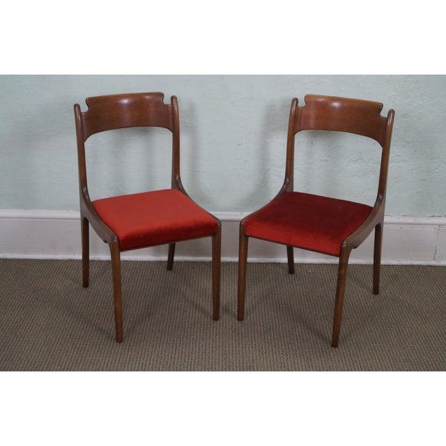 Italian Walnut Midcentury Modern Dining Chairs - 6 - Image 2 of 10