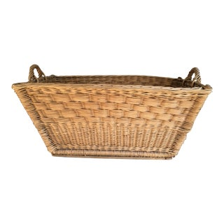 French Woven Laundry Basket
