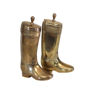 Brass Riding Boot Bookends - Pair