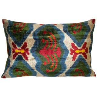 Larson Silk Velvet Ikat Pillow