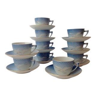 Bing & Grondahl Seagull China Cups and Saucers - Set of 10