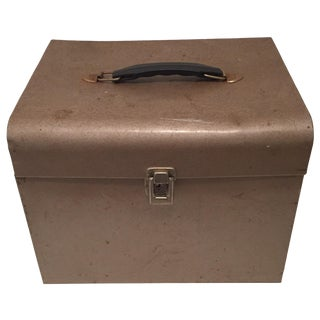 Retro Rustic Industrial Grey Metal Box