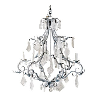 Rock Crystal Vintage French Style Chandelier c.1990