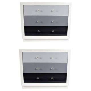 Pair of Chests by John Stuart Newly Lacquered
