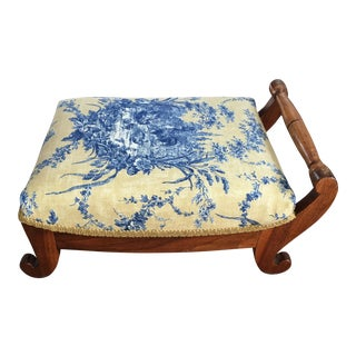 Antique Sleigh Footstool