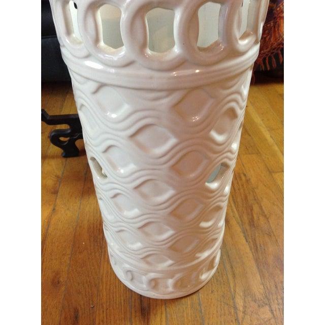 Image of White Ceramic Umbrella Stand