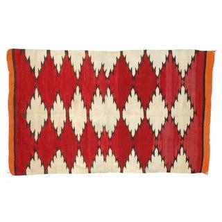 """Antique 1920s Navajo Wool Rug - 4'2"""" x 7'"""