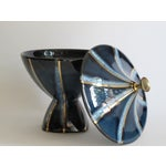 Image of Navy & Gold Lidded Candy Dish