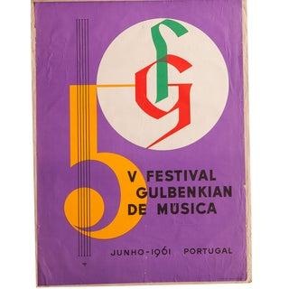 Mid Century Music Poster