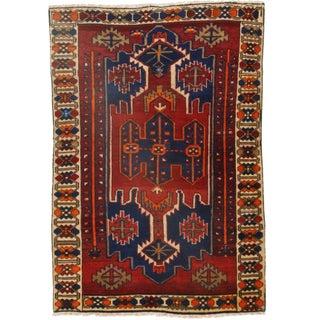 Persian Hamedan Wool Rug - 4′5″ × 6′5″