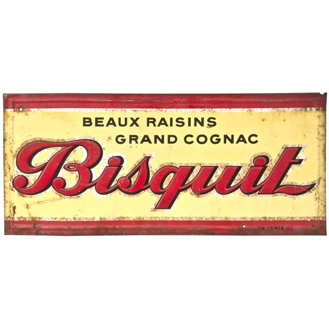 Vintage French Bisquit Sign - Image 1 of 2